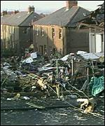 Lockerbie devastation