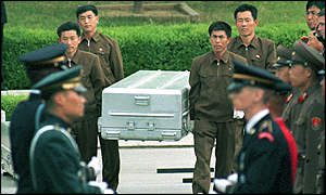 Coffins of the remains US soldiers returned last year
