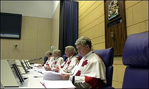 Judges in the special scottish court