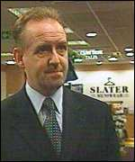 Allan McWilliam, manager Slater Menswear