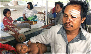 Sumatra quake: injured man