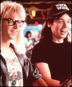 Mike Myers with Wayne's World co-star Dana Carvey