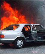 Finance Minister Yiannis Paleokrassas car burns after 17 November attack