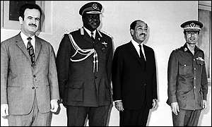 President Assad with Idi Amin, Anwar Sadat and Col Muammar Gaddafi
