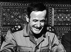 A rare 1973 picture of the Syrian president smiling