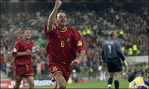 Bart Goor scores for Belgium