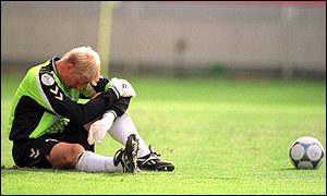 Peter Schmeichel lets his feelings show