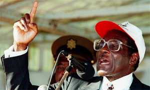 Prsident Robert Mugabe on the campaign trail