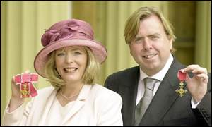 Alison Steadman and Timothy Spall
