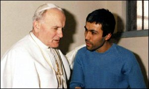 Pope John Paul II and Mehmet Ali-Agca