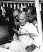Pope John Paul II after 1981 shooting