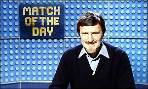 Jimmy Hill presenting Match of the Day in 1981