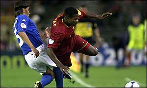 Fabio Cannavaro and Emile Mpenza