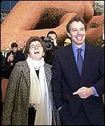 Jennie Page and Tony Blair