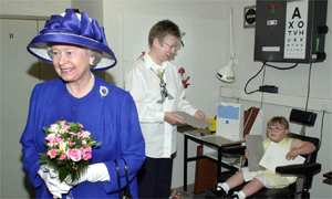 The Queen at university eye clinic