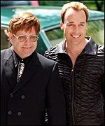 Sir Elton John with partner David Furnish