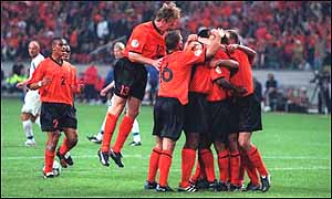Dutch celebrating