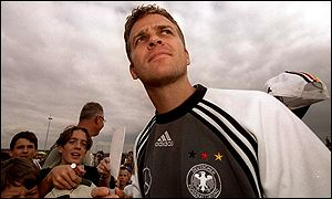 Oliver Bierhoff's Euro 2000 dreams are over