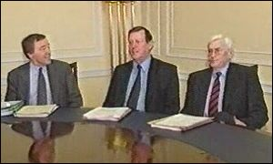 John Semple pictured with David Trimble and Seamus Mallon