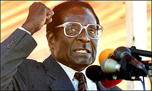 President Mugabe addressing a rally in Harare