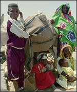 Eritrean refugees from the war