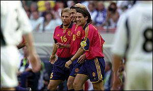 Raul, Gaizka Mendieta and Alfonso