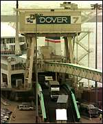 Lorries at Dover, Britain