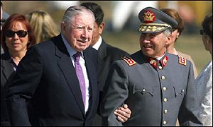 Pinochet returns to Chile