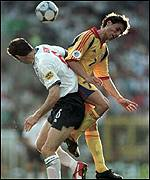 Keown against Romania