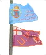 Paramilitary flags vie for top position on posts