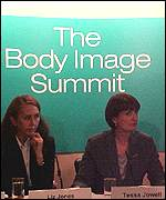 Tessa Jowell and Marie Claire Editor Liz Jones