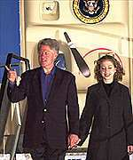 Bill and Chelsea Clinton on a state visit