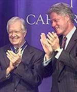President Clinton and Jimmy Carter