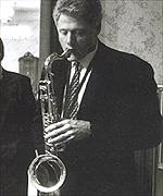 President Clinton playing his sax