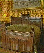 [ image: One of the pair of beds which cost £16,000]