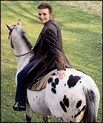[ image: Linda enjoyed horse riding]