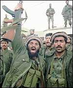 [ image: Mujahadeen soldiers celebrated victory in 1992]