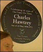 [ image: One of the plaques for four Carry On stars]
