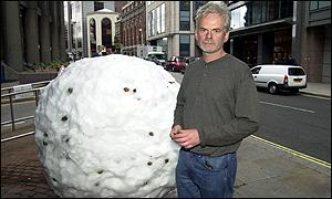 Andy Goldsworthy and giant snowball