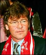 Ernst with football scarf