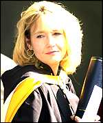 JK Rowling in degree robes
