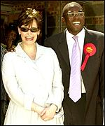 Mr Lammy witrh Cherie Blair