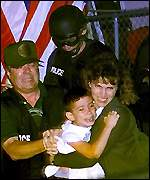 Elian Gonzalez taken into care by US Agents