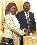 Morgan and Susan Tsvangirai