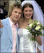 Jamie Oliver and wife Juliette
