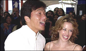Jackie Chan and Kylie Minogue