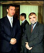 Montenegro President Milo Djukanovic with Croatian President Stipe Mesic