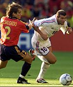 Zidane glides past Spain defender Salgado