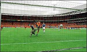 Kluivert's third goal has been ruled an own goal
