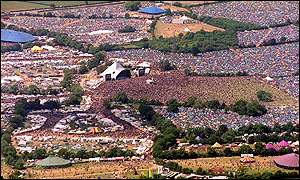 Glastonbury aerial view